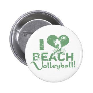 I Heart Beach Volleyball Button