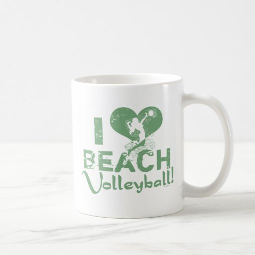 I Heart Beach Volleyball Coffee Mug