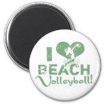 I Heart Beach Volleyball Magnet
