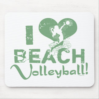 I Heart Beach Volleyball Mouse Pad