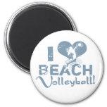 I Heart Beach Volleyball Refrigerator Magnets
