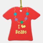 I heart Beads - front and back Ornament