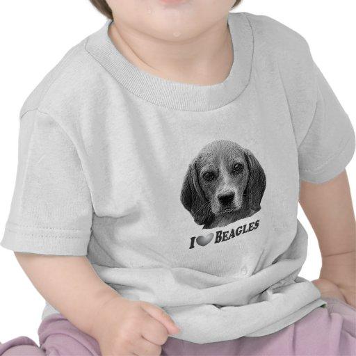 I Heart Beagles with Beagle Portrait Shirts