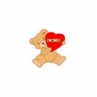I-Heart bear Keyhain Statuette