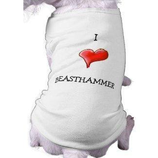 I Heart BEASTHAMMER petshirt