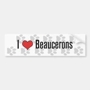 I (heart) Beaucerons Bumper Sticker