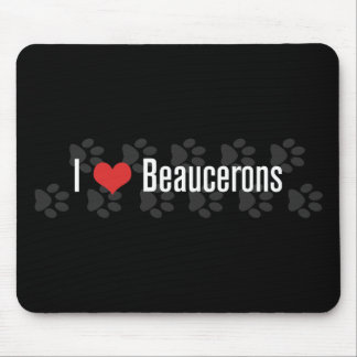 I (heart) Beaucerons (Dark) Mouse Pads