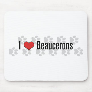 I (heart) Beaucerons Mouse Pad