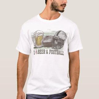 I Heart Beer and Football T-Shirt