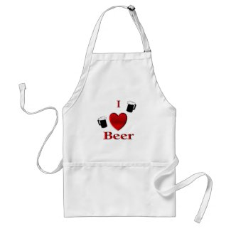 I Heart Beer Apron