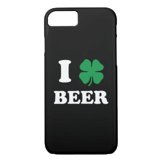 I Heart Beer Black iPhone 7 Case