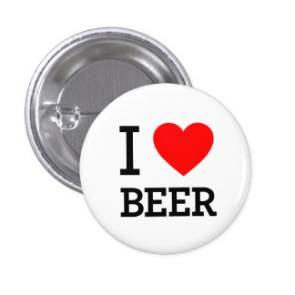 I Heart Beer Pinback Buttons