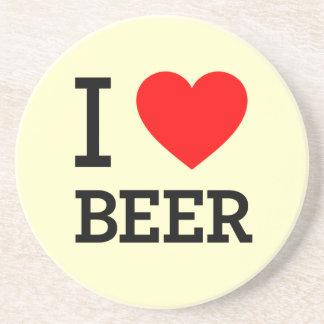 I Heart Beer Beverage Coaster