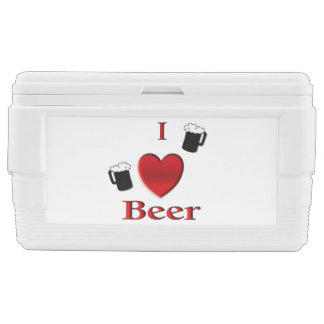 I Heart Beer Cold Ones Chest Cooler