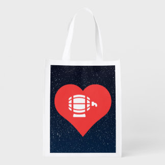 I Heart Beer Kegs Icon Market Totes