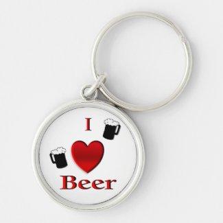 I Heart Beer Key Chain