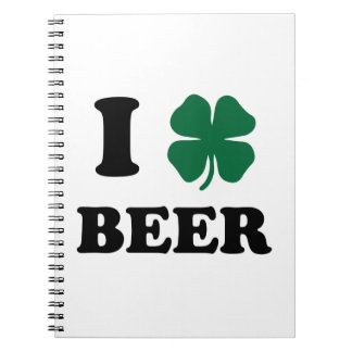 I Heart Beer Note Books