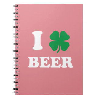 I Heart Beer Pink Note Book