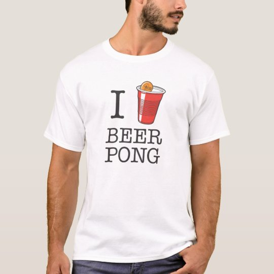 I Heart Beer Pong T-Shirt