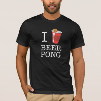 "I ""Heart"" Beer Pong T-Shirt"