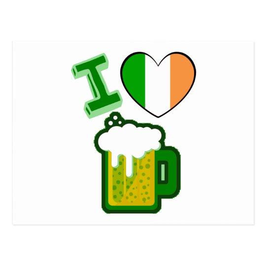 I Heart Beer Postcard