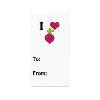 I Heart Beets Label