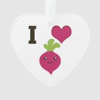I Heart Beets Ornament