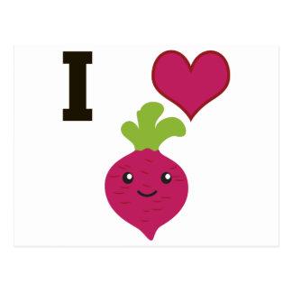 I Heart Beets Postcard