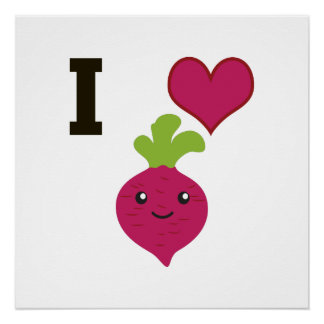 I Heart Beets Poster