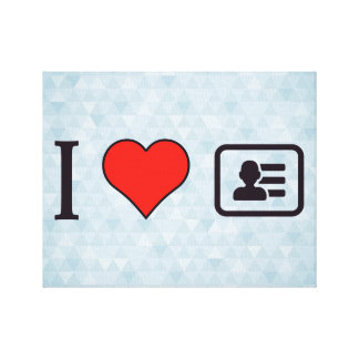 I Heart Being A Business Men Canvas Print
