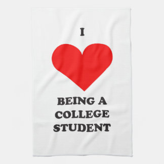 I HEART being a college student! Kitchen Towel