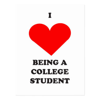 I HEART being a college student! Postcard
