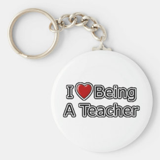 I Heart Being a Teacher Keychain
