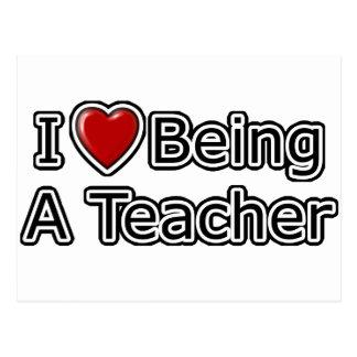 I Heart Being a Teacher Postcard
