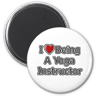 I Heart Being a Yoga Instructor 2 Inch Round Magnet