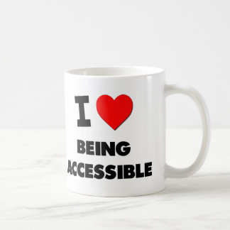 I Heart Being Accessible Classic White Coffee Mug