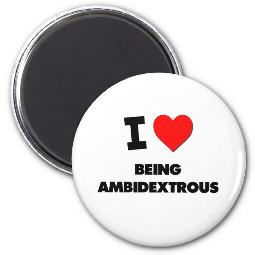I Heart Being Ambidextrous 2 Inch Round Magnet