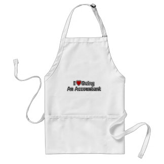 I Heart Being an Accountant Adult Apron