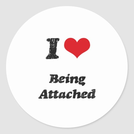I Heart Being Attached Stickers