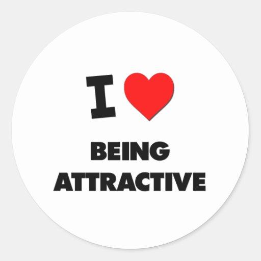 I Heart Being Attractive Sticker