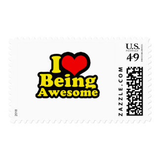 I Heart Being Awesome Postage Stamps