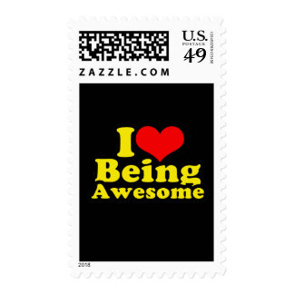 I Heart Being Awesome Postage Stamp