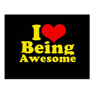 I Heart Being Awesome Postcard