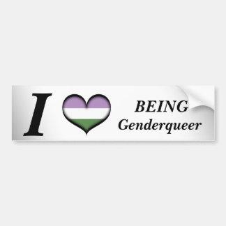 I Heart Being Genderqueer Car Bumper Sticker