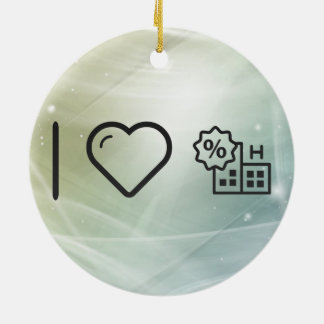 I Heart Being Healthys Double-Sided Ceramic Round Christmas Ornament