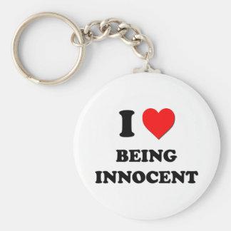 I Heart Being Innocent Basic Round Button Keychain