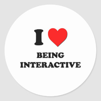 I Heart Being Interactive Round Stickers