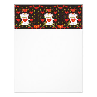 I Heart Being Lucky in Black Personalized Letterhead
