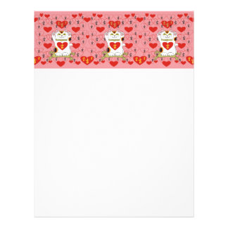 I Heart Being Lucky in Pink Letterhead Template