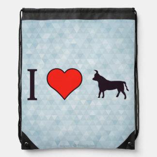 I Heart Being Taurus Drawstring Bag